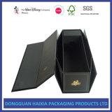 Rectángulos de regalo plegables negros brillantes para el envío plano plegable