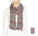 Indisches Muster-kundenspezifischer Silk Schal