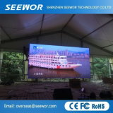 Peso ligero P8mm Alquiler exterior LED perfecta video wall con armario de 960*960