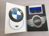 A5 la impresión barata de la Li-Batería de la talla 1500mAh modificó el regalo video del saludo para requisitos particulares del folleto del LCD de 7 pulgadas