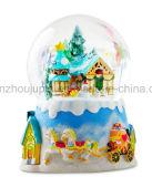 Palla di neve Snowdome dei globi della neve del mestiere della resina di natale dell'OEM