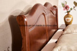 Cama de madera maciza modernas camas dobles (M-X2276)