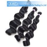 Cheveux humains brésiliens de noir de gicleur de la pente 5A