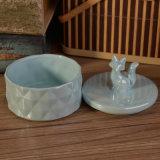 Descole Vela cerâmica Vidraças Copo com tampa em forma de animal