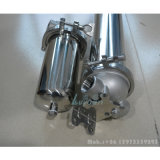 Abrazadera de alta calidad 10 de 20 pulgadas de 304 solo la caja del cartucho de filtro de acero inoxidable de 5 micras de agua líquida