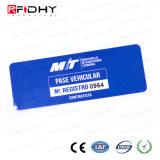 Etiqueta elegante RFID del parabrisas pasivo de la frecuencia ultraelevada de ISO18000-C 860MHz-960MHz