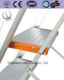 Tipo escala/sola de la alta calidad U escala de plegamiento lateral de la aleación de aluminio