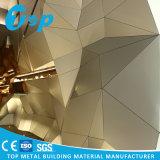 3D à céréales en bois Décoration intérieure et extérieure du panneau de revêtement en aluminium