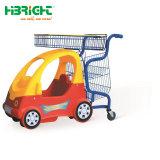 子供のためのスーパーマーケットの子供のトロリーおもちゃの金属の子供の買物車