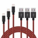 2018 оплеткой из нейлона с высокой скоростью передачи данных USB кабель зарядного устройства