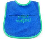 Busbana francese molle del collo del bambino del Terry del cotone verde ricamata marchio su ordinazione dei prodotti dell'OEM della fabbrica