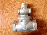 Y datilografa a braçadeira do aço inoxidável instala rapidamente a válvula de verificação