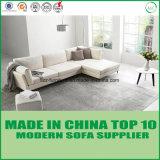 白いカラー現代L形の革柔らかいソファーベッド