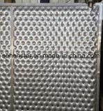 Placa inoxidable grabada de la almohadilla de la placa del hoyuelo del intercambio de calor de la placa del diseño