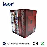 Tarjeta video de saludo de la tarjeta video del regalo del asunto del LCD de 10.1 pulgadas con la pantalla táctil