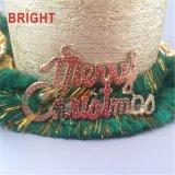 Vela rústica del pilar de Lacker del oro de encargo de la Navidad para la decoración