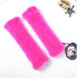 Winter-Frauen Miten strickten Hut-Schal-Handschuhe eingestellte Nerz-Pelz-Handschuhe