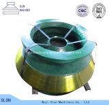 La trituradora del cono de Metso HP3 del acero de manganeso parte la capa y cóncavo