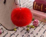 Nouvelle arrivée de couleur rouge congelée Pompom 12cm Sac de fourrure de charme