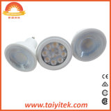 Bulbo de aluminio del proyector del plástico 5W SMD GU10 LED