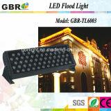 do diodo emissor de luz ao ar livre da luz/parte externa de 60PCS *3W RGBW luz da lavagem da parede