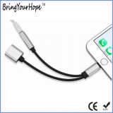 Uso 2 en el adaptador del cable del relámpago de la carga/de la música de 1 para el iPhone 7/8/X