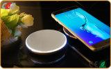 Cargador sin hilos permitido Qi portable del recorrido de la potencia elegante del adminículo del teléfono móvil del oro de la carga White+Champagne del teléfono móvil para el iPhone 8 del iPhone X de la galaxia S6 de Samsung