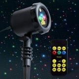 Lumière laser d'étoile de mouvement de vacances