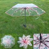 가득 차있는 자동은 3 겹 21inch 8K 투명한 우산을 연다