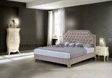 Insieme classico della base del cuoio della camera da letto della mobilia di Chesterfield