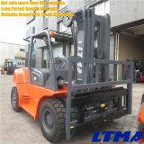 4.5m mastro de três estágios Forklift Diesel hidráulico de 6 toneladas