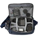 Di Eco migliore Digitahi sacchetto su ordinazione della macchina fotografica del professionista SLR con colore anteriore dell'azzurro di blu marino delle due caselle