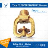 Tyco 유형 D3 Protectospray 중간 각측정속도 방향 분무 노즐