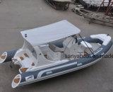 Liya 17ft casco rígido China bote inflable de fibra de vidrio