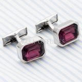 Chemise de mariage de cristal violet VAGULA Men's Cufflink 721