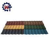 安い石のKerala/バングラデシュ/アフリカ/ナイジェリアの上塗を施してある鋼鉄屋根瓦