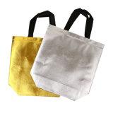 Bolso de compras tejido laminación del oro del polaco del Nonwoven de la impresión