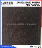 El PVC de madera del grano cubrió la hoja de acero de la bobina de acero laminada del PVC