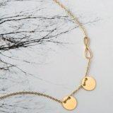 Goud om de Halsband die van de Manier van de Vrouwen van de Juwelen van het Roestvrij staal wordt geplateerd