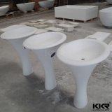Eindeutiges weißes Matt-Badezimmer-stehendes Marmorierungwaschbecken (B1711231)