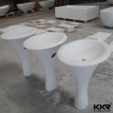 Белый матовый мраморные ванные комнаты постоянного Раковина
