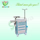 비상사태 트롤리 구급용 이동할 수 있는 손수레 병원 트롤리 Slv-C4010
