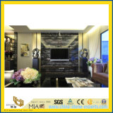 虚栄心の上および台所上のための銀製のドラゴンの黒の大理石