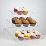 Présentoir chaud de dessert d'usager de présentoir de gâteau de cuvette de vente