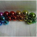80mm 120mm Regenbogen, der hohle Edelstahl-Kugeln für Spielwaren oder Dekoration überzieht