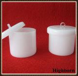 Milchige weiße schmelzende Silikon-Quarz-Tiegel mit Kappen