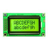 LCD van het Karakter van Stn 8X2 LCD van de MAÏSKOLF van Punten 5V Geelgroene Vertoning