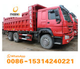저가 아프리카 시장을%s 10의 타이어 6X4를 가진 우수한 상태 HOWO에 의하여 이용되는 덤프 트럭 팁 주는 사람