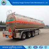 La aleación de aluminio combustible/aceite/semi remolque cisterna de transporte de gasóleo con eje de Fuhua/BPW
