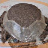 가득 차있는 레이스 기초 최상 인도 머리 남자의 Toupee